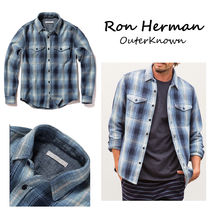 Ron Herman Gingham Tartan Long Sleeves Cotton Handmade Shirts