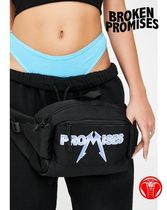 BROKEN PROMISES Casual Style Unisex Street Style Hip Packs