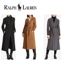 Ralph Lauren Wool Plain Long Elegant Style Coats