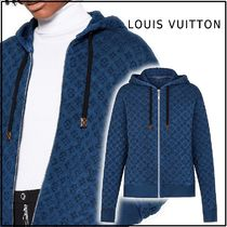 Louis Vuitton 2019-20AW OVERDYED MONOGRAM JERSEY ZIP-UP HOODIE blue hoodie
