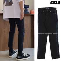 ASCLO Slax Pants Denim Street Style Collaboration Plain