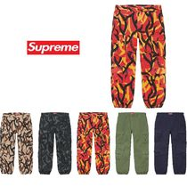 Supreme Camouflage Unisex Street Style Plain Bottoms