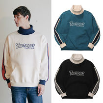 WV PROJECT Crew Neck Pullovers Unisex Street Style Long Sleeves Plain