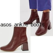 ASOS Casual Style Block Heels Party Style Elegant Style