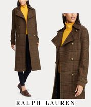 Ralph Lauren Other Check Patterns Wool Long Elegant Style Wrap Coats