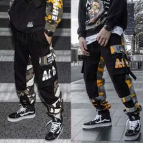 Printed Pants Camouflage Street Style Oversized