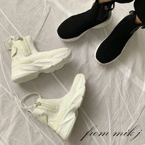 Casual Style Faux Fur Street Style Plain Flat Boots