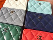 CHANEL MATELASSE Unisex Lambskin Leather Long Wallet  Small Wallet Coin Cases