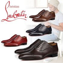 Christian Louboutin Straight Tip Plain Leather Oxfords