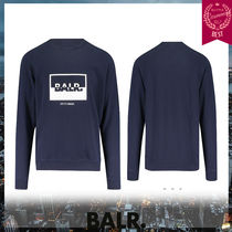 BALR Crew Neck Street Style Long Sleeves Sweatshirts