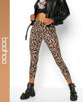 boohoo Leopard Patterns Skinny Pants