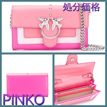 PINKO Casual Style Chain Leather Shoulder Bags