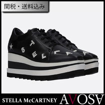 Stella McCartney ELYSE Star Monogram Square Toe Platform Lace-up Casual Style
