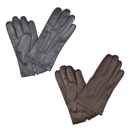 Unisex Cashmere Leather Leather & Faux Leather Gloves