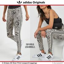 adidas Leopard Patterns Blended Fabrics Street Style Leggings Pants