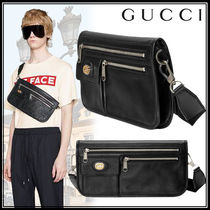 GUCCI Street Style Plain Leather Messenger & Shoulder Bags