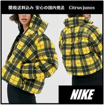 Nike Short Other Check Patterns Casual Style Blended Fabrics
