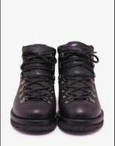 MONCLER Mountain Boots Blended Fabrics Plain Leather Outdoor Boots