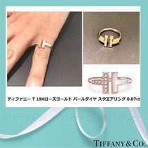 Tiffany & Co Tiffany T Blended Fabrics 18K Gold Elegant Style Fine