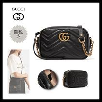 GUCCI GG Marmont Casual Style Calfskin 2WAY Chain Plain Party Style Fringes