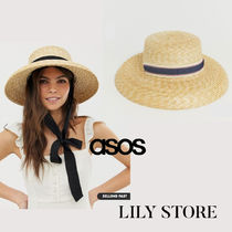 ASOS Straw Boaters Hats & Hair Accessories