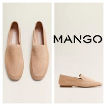 MANGO Leather Flats