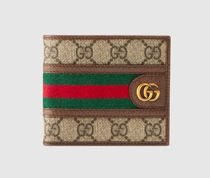 GUCCI Gucci Signature Leather Leather Folding Wallets