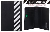 Off-White Street Style Leather Long Wallets