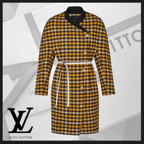 Louis Vuitton Other Check Patterns Wool Oversized Coats