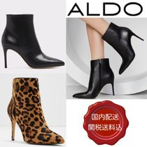 ALDO Leopard Patterns Plain Leather Pin Heels Party Style