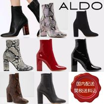 ALDO Square Toe Plain Other Animal Patterns Leather Block Heels
