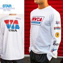 RVCA Crew Neck Unisex Street Style Long Sleeves Plain