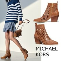 Michael Kors Casual Style Plain Block Heels Ankle & Booties Boots