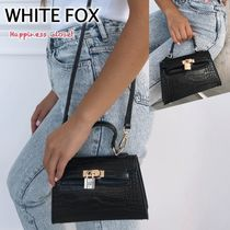 WHITE FOX Casual Style Crocodile 2WAY Plain Bags