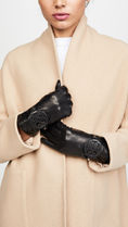 Tory Burch Plain Leather Leather & Faux Leather Gloves