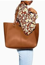TOPSHOP Casual Style Faux Fur Bag in Bag 2WAY Plain Office Style