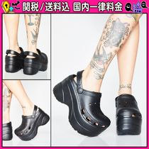 DOLLS KILL Platform Casual Style Plain Platform & Wedge Sandals