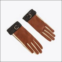 Uterque Plain Leather Leather & Faux Leather Gloves