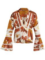 Dodo Bar Or Flower Patterns Long Sleeves Cotton Shirts & Blouses