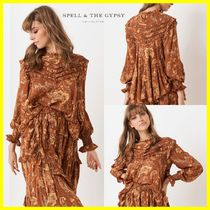 SPELL Flower Patterns Long Sleeves Shirts & Blouses