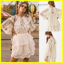 SPELL Flower Patterns Long Sleeves Puff Sleeves Shirts & Blouses