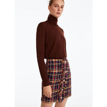 Uterque Pencil Skirts Short Other Check Patterns Elegant Style