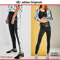 adidas Flower Patterns Blended Fabrics Street Style Leggings Pants