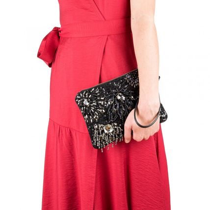 2WAY With Jewels Crossbody Clutches