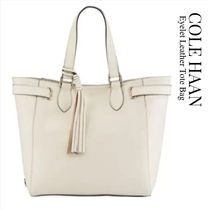 Cole Haan Casual Style Tassel A4 Plain Leather Office Style Totes