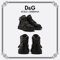 Dolce & Gabbana Mountain Boots Unisex Leather Outdoor Boots