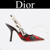 Christian Dior Other Check Patterns Blended Fabrics Collaboration Pin Heels