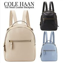 Cole Haan Casual Style Plain Leather Backpacks