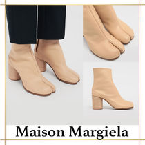 Maison Martin Margiela Tabi Plain Leather Block Heels High Heel Boots