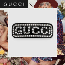 GUCCI Barettes Casual Style With Jewels Office Style Elegant Style